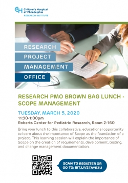 Research PMO Brown Bag Lunch