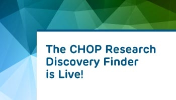 The CHOP Research Discovery Finder is Live