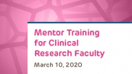 Research Mentor Training