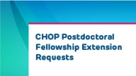Postdoc Fellowship Extension