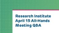 Research All Hands Q and A