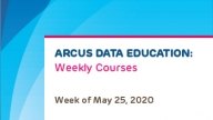 Arcus Weekly Schedule