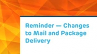 Mail Delivery Changes