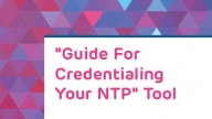 """Guide for Credentialing Your NTP"" Tool"